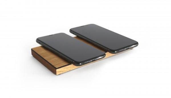 Duo Pad | zweifach Ladestation aus Holz