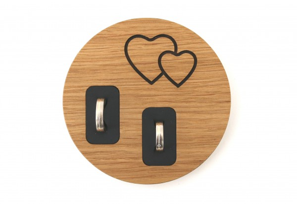 Ringschale aus Holz, Eiche