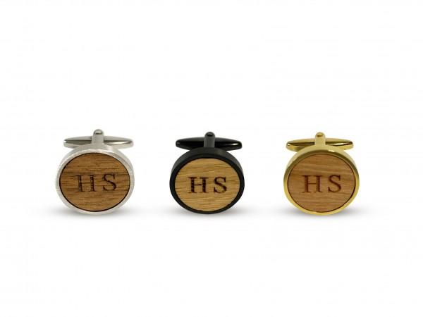 Manschettenknöpfe mit Initialien personalisiert