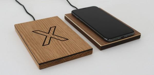 Fast Wireless Charger aus Holz 10W Ladestation für Apple iPhone X