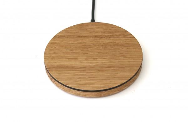 Induktionsladegerät aus Holz