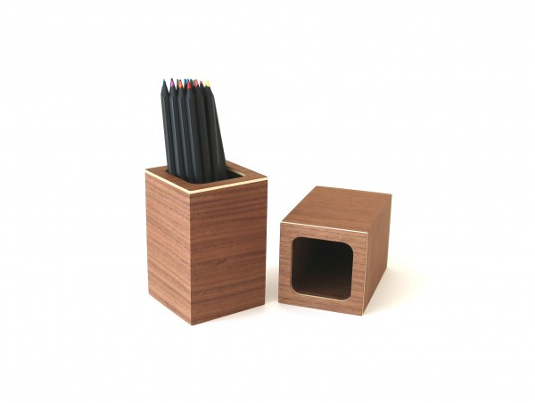 Stifteköcher aus Holz