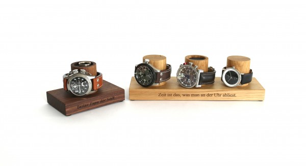 Uhrenbox aus Holz mit Gravur personalisiert