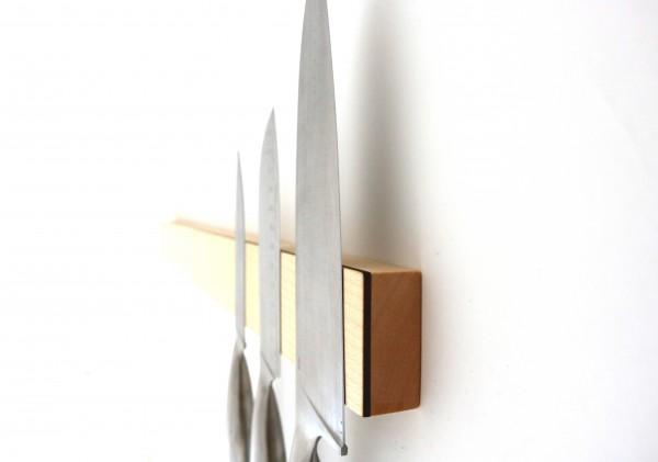 magnetische messerleiste aus holz ahorn streifholz. Black Bedroom Furniture Sets. Home Design Ideas