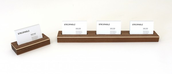 Visitenkartenhalter aus Holz, einzeln & mehrfach