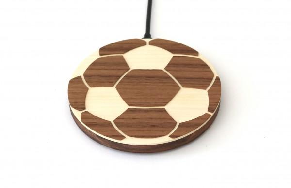 """Schnellladegerät aus Holz """"Fußball"""""""