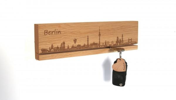 Schlüsselbrett mit Skyline deiner Stadt