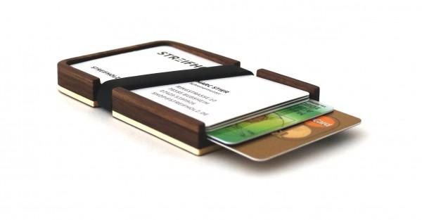 Kreditkartenetui aus Holz, Nussbaum