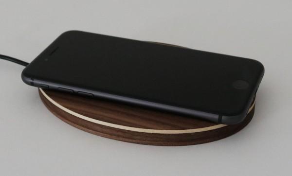 Qi Ladegerät aus Holz 10W Fast Wireless Charger Ladestation kabellos drahtlos induktiv