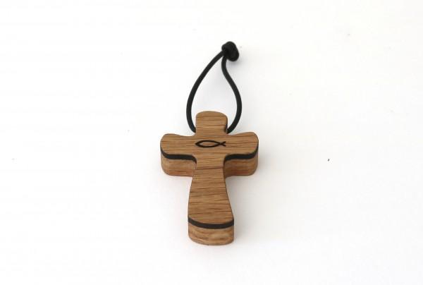 Kreuzanhänger aus Holz