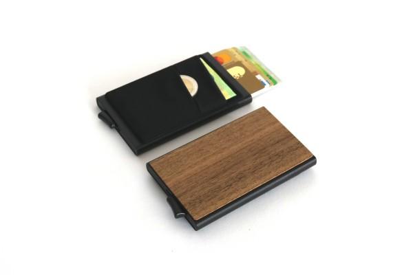 Kreditkartenetui aus Holz in Eiche, Nussbaum & Kirschbaum