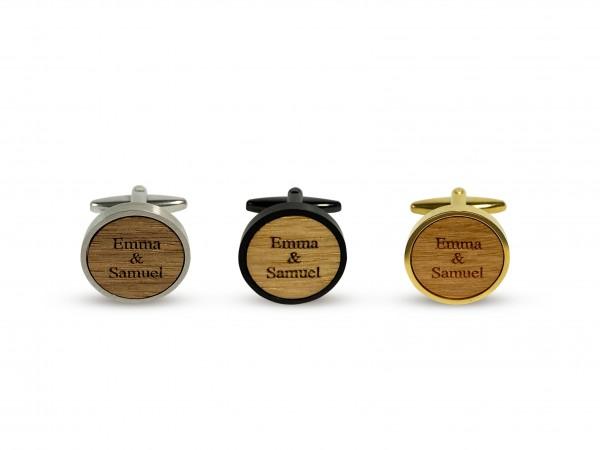 Manschettenknöpfe personalisiert aus Holz
