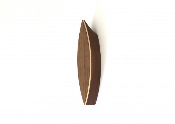 Garderobenhaken einzeln aus Holz, Nussbaum