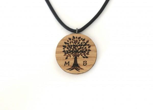 Anhänger Baum des Lebens mit Initialien