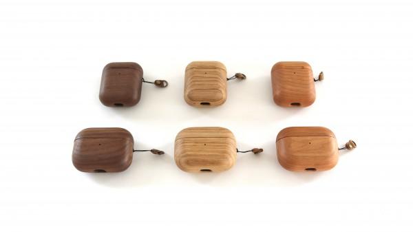 Airpods 1+2 & Pro Case aus Holz mit Gravur personalisiert
