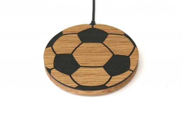 "Wireless Charger aus Holz ""Fußball"""