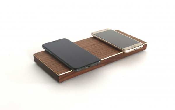 Dual Wireless Charger aus Holz