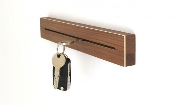 Schlüsselleiste aus Holz, Nussbaum