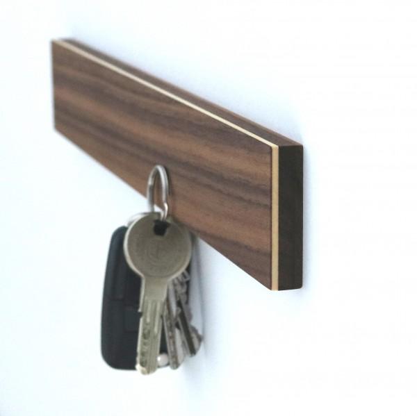 Schlüsselbrett magnetisch, Nussbaum
