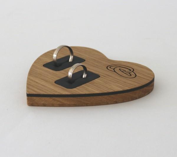 Ringkissen herzform aus Holz